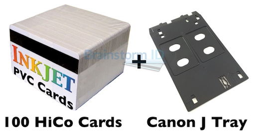Inkjet PVC ID Card Starter Kit - Canon J Tray - MG5420 ...