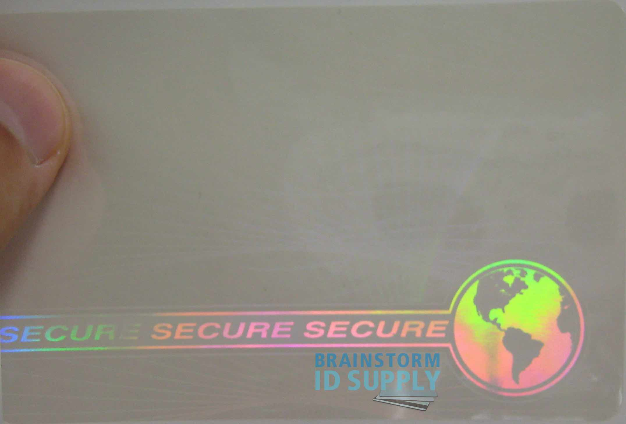 For amp; Ebay Web Teslin Pack pvc Overlays Earth Secure 100 W 792273814537 - Hologram Card Id