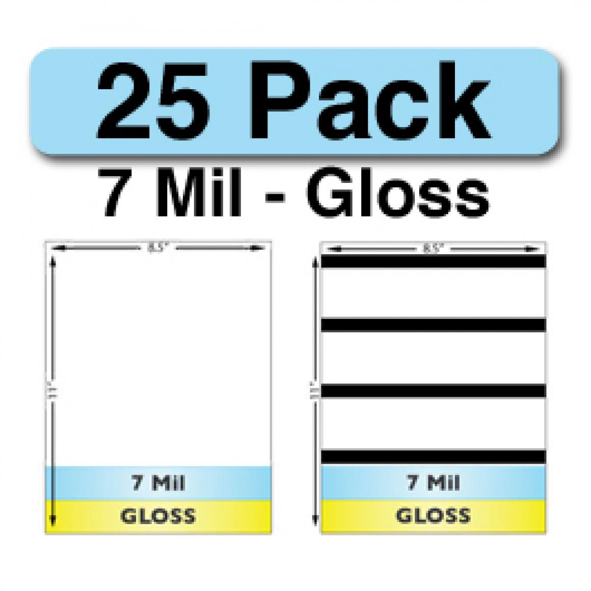 7 Mil Gloss Full Sheet Laminate Combo Pack