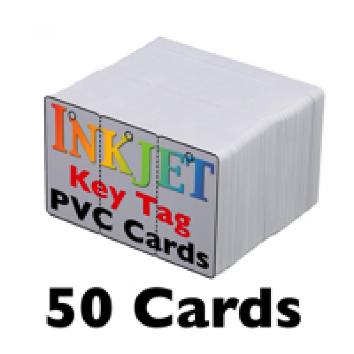 50 Keytag Inkjet Pvc Cards 3 Up Inkjet Printable Keytags