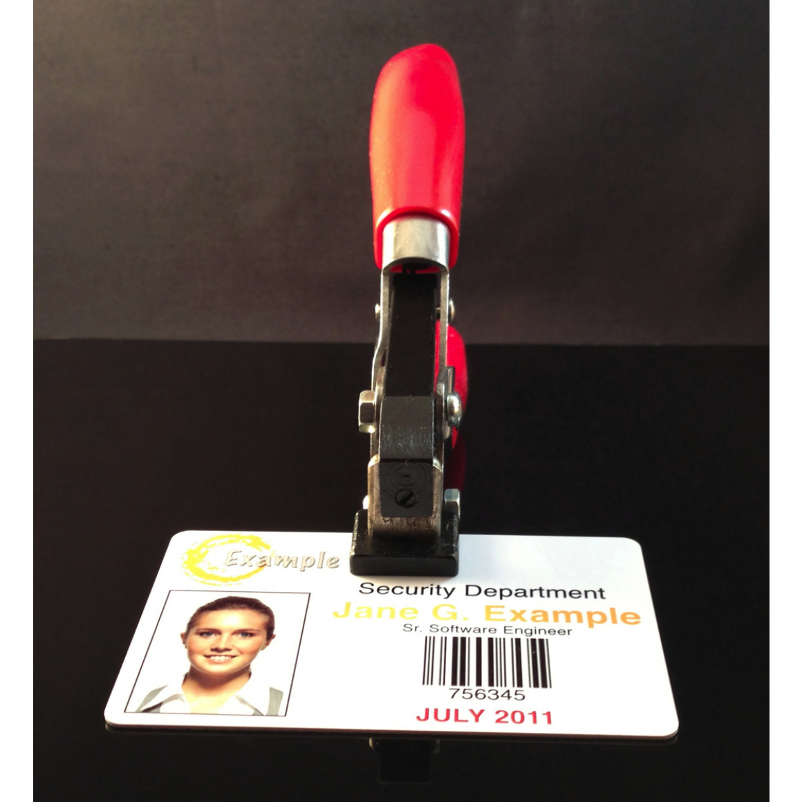 ID Card Slot Punch Front View Punching Card