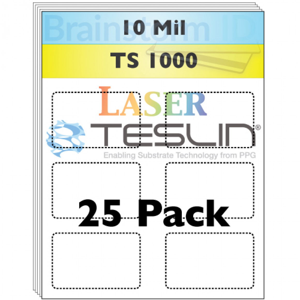 10 Mil Laser Teslin Perforated TS 1000 Sheets 25 pack