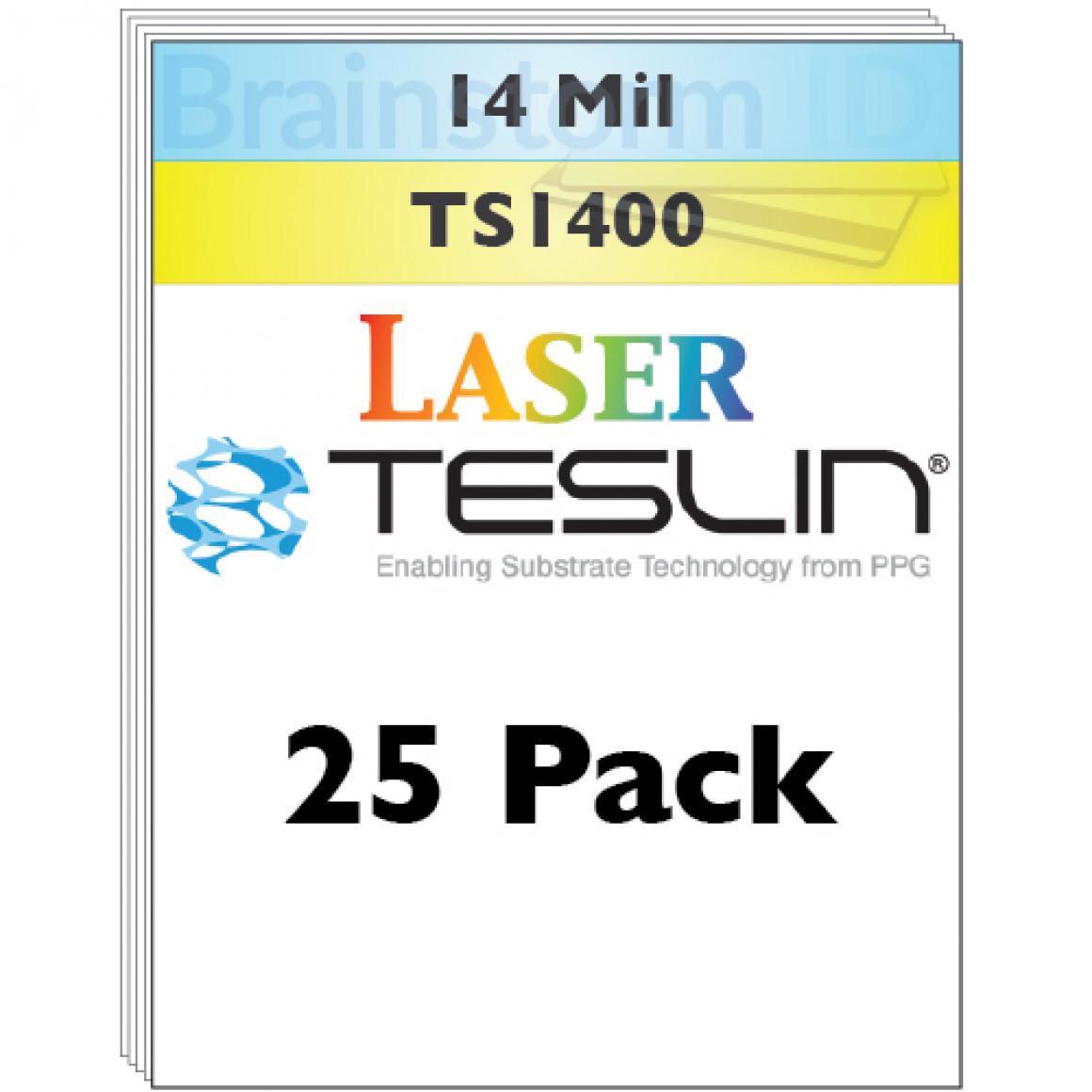 Teslin TS1400 (SP1400TS) - 14 Mil Laser Teslin - 25 Pack