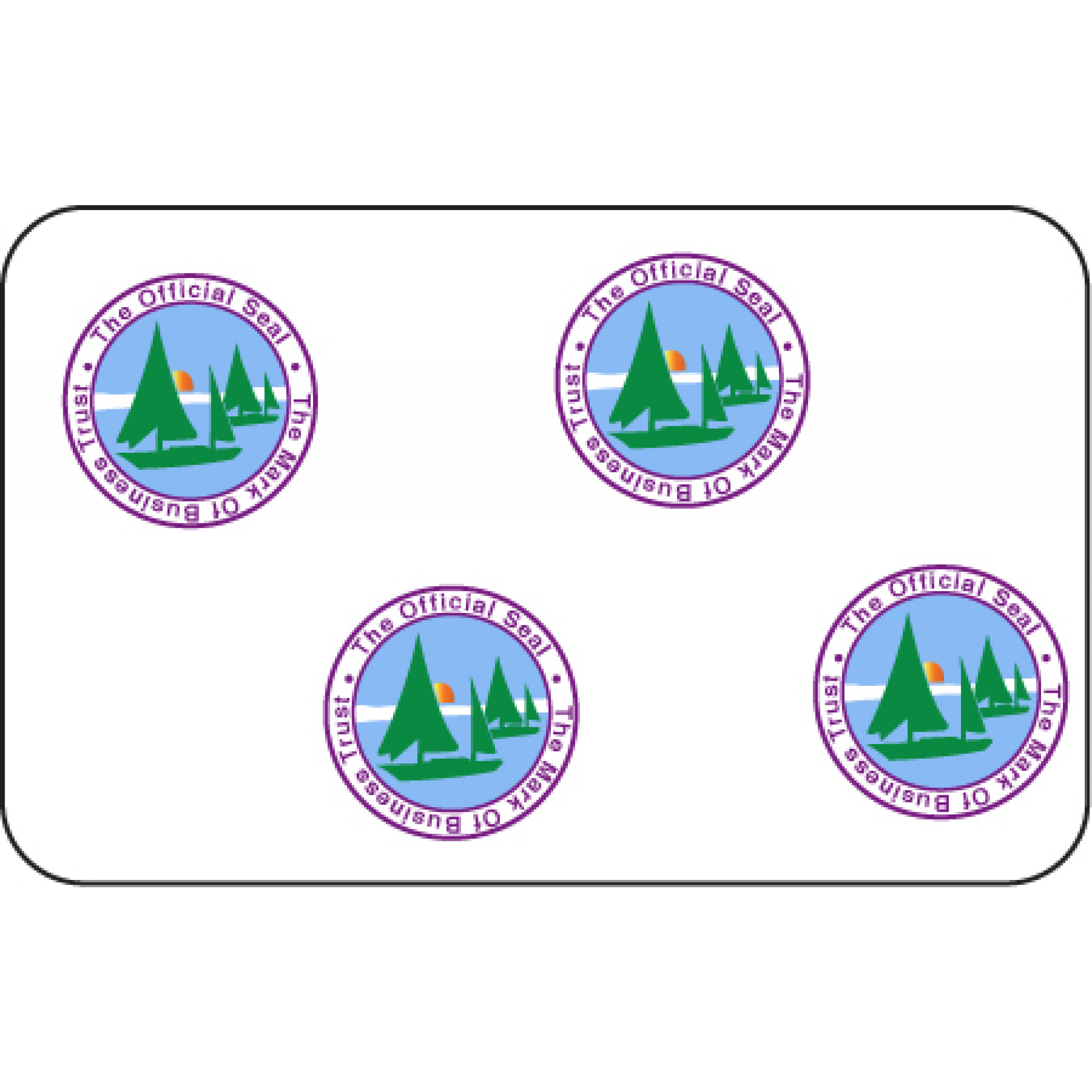 Mark of Business Trust ID Card Hologram Overlays w//UV for Teslin//PVC 50 pack
