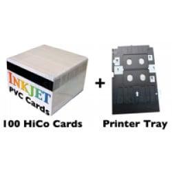 100 HiCo Mag Stripe Card Inkjet PVC ID Kit
