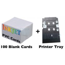 100 Card Inkjet PVC ID Kit