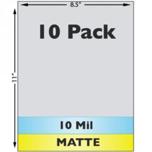 10 Mil Matte Full Sheet Laminate - 10 Pack