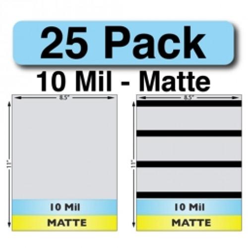 10 Mil Matte Full Sheet Sets - 25 Pack