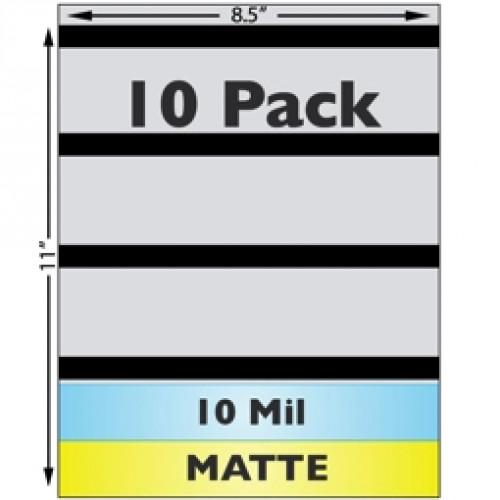 """10 Mil Matte w/ 1/2"""" HiCo Mag Stripe Full Sheet Laminate - 10 Pack"""