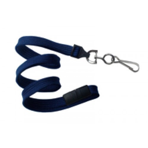 "3/8"" Flat Braid Breakaway Lanyard w/ Swivel J-Hook"