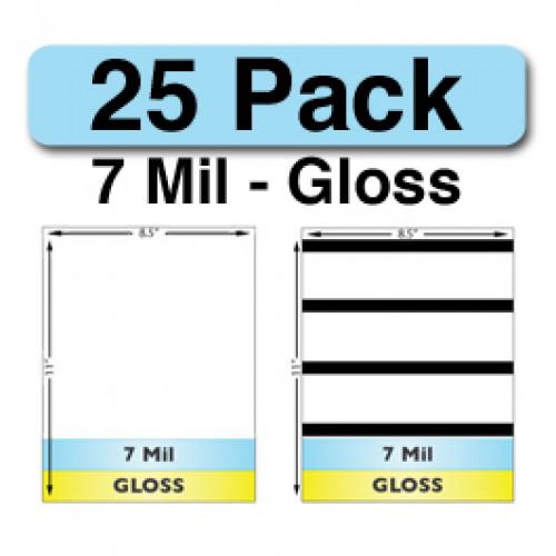 7 Mil Gloss Full Sheet Sets - 25 Pack