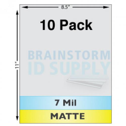 7 Mil Matte Full Sheet Laminate - 10 Pack