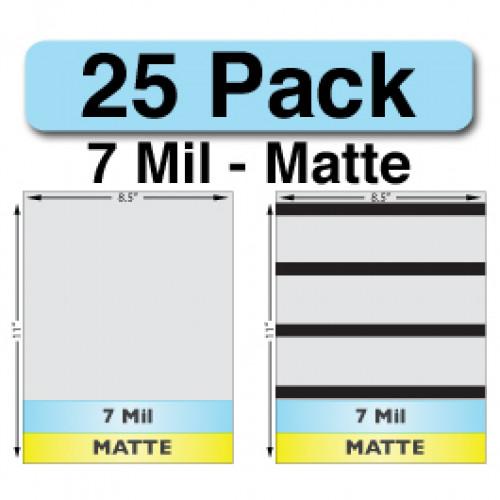 7 Mil Matte Full Sheet Sets - 25 Pack