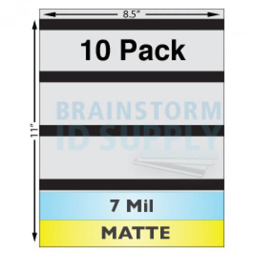 """7 Mil Matte w/ 1/2"""" HiCo Mag Stripe Full Sheet Laminate - 10 Pack"""