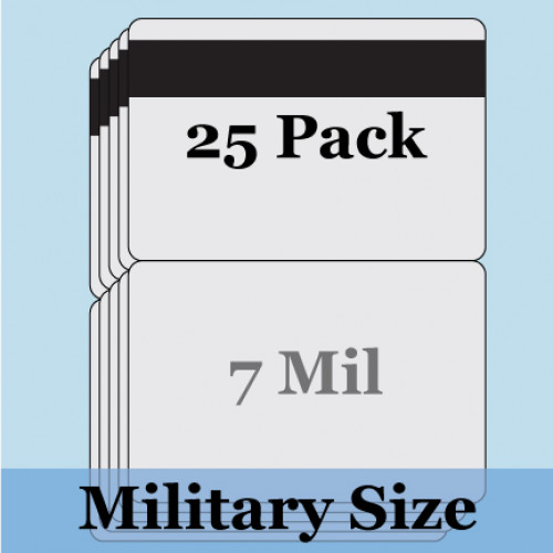 "7 mil Military Size Matte Butterfly Pouches w/ 1/2"" HiCo Mag Stripe - 25 Pack"