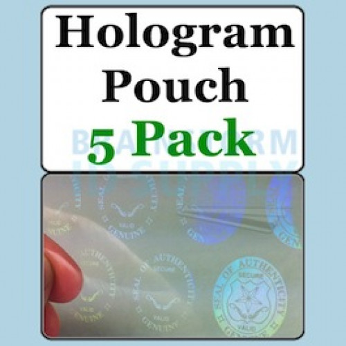 Authentic w/Seals and Keys Hologram Butterfly Pouch - 5 Pack