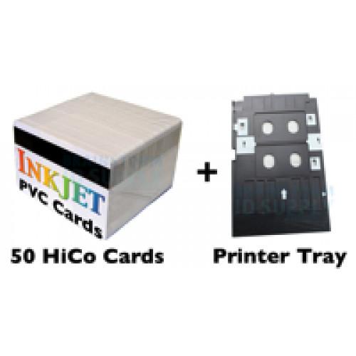 50 HiCo Mag Stripe Card Inkjet PVC ID Kit