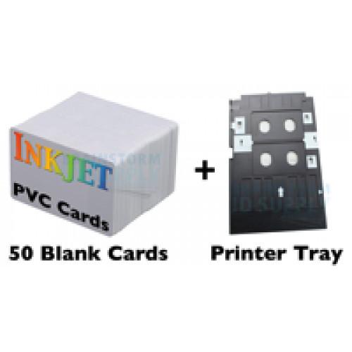 50 Card Inkjet PVC ID Kit