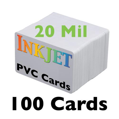 100 Inkjet PVC Cards (20 mil)
