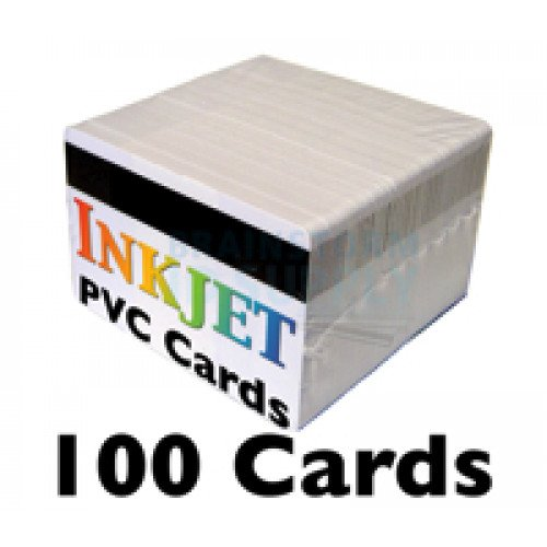 100 Inkjet PVC Cards with HiCo Mag Stripe
