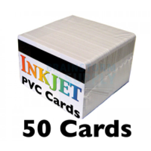 50 Inkjet PVC Cards with HiCo Mag Stripe