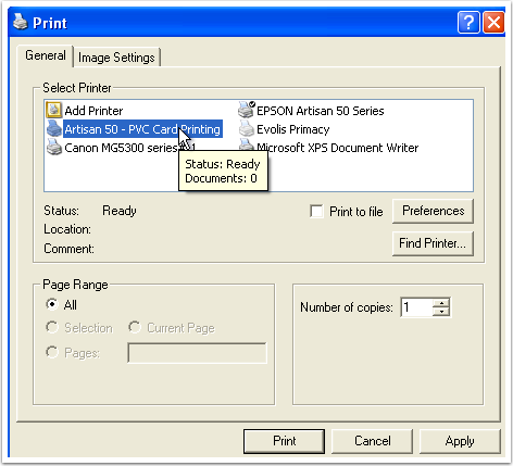 Print screen showcases step instructions
